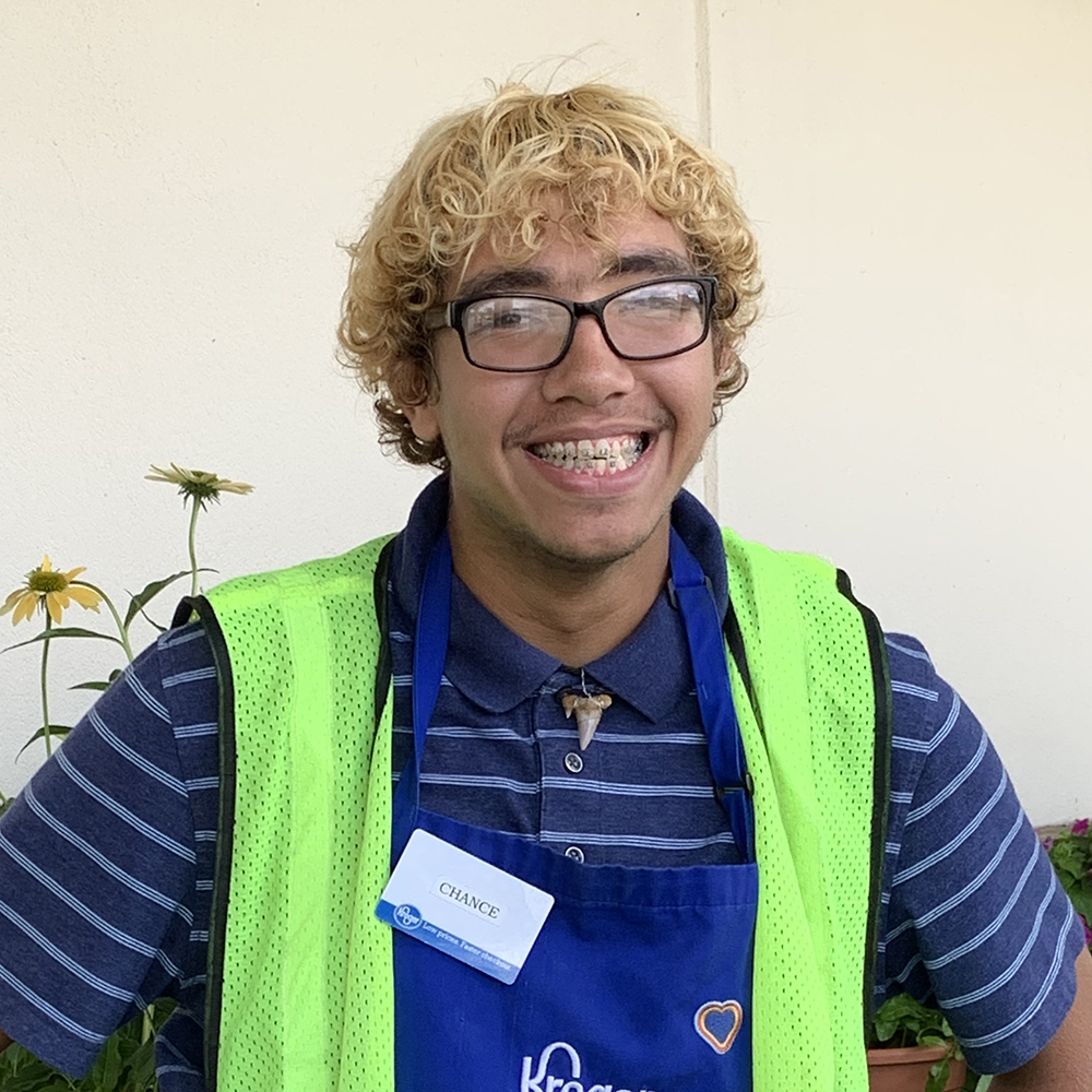 Brian is a courtesy clerk at Publix and loves helping his customers.